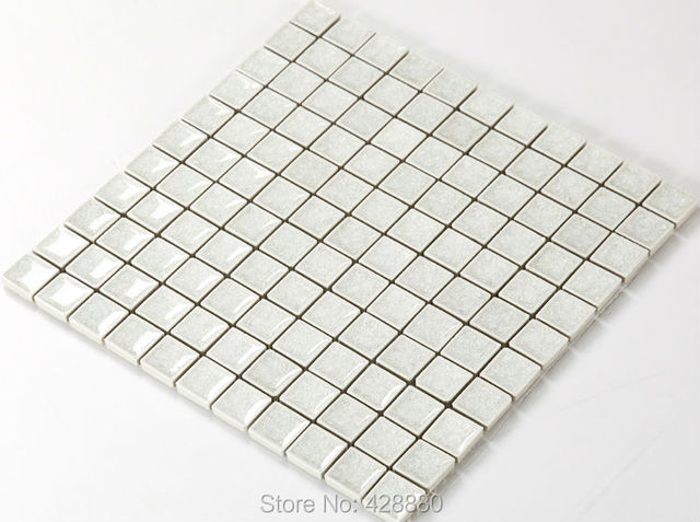 Porcelain Tile Mosaic Kitchen Backsplash 1 Inch Le Crystal Gl A001 Ceramic Tiles Bathroom Wall