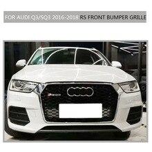 Q3 SQ3 Sline Grille black Emblem Front Bumper mesh Radiator Grille For Audi Q3 SQ3 2016