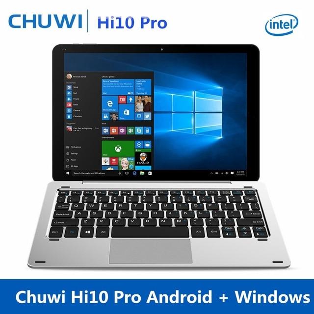 Chuwi Hi10 Pro Android Tablet 10,1 pulgadas Tablet PC con teclado Intel X5-Z8350 Windows 10 Android 5,1 IPS Dual cámara