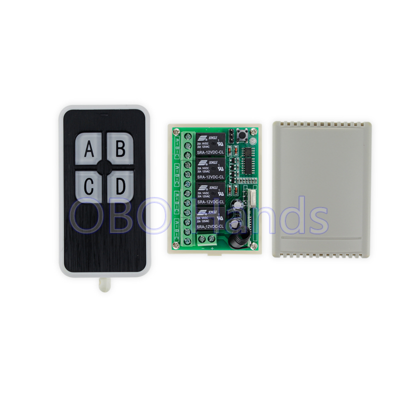 New arrival 315/433MHz 12V 4CH wireless remote control switch+receiver shell for door lock can control 4 doors up to 50m-SL34 wireless 315 433mhz 12v 4ch remote control switch receiver shell for door lock can control 4 doors up to 50m for door lock sl34