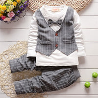 2017 Baby Child Clothes Plaid Suit Boys Gentleman Suit For Spring Autumn Baby Boy Clothing Outfit