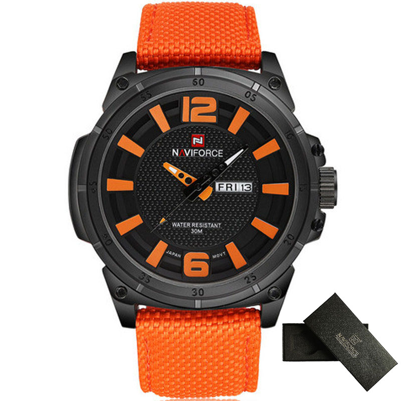 NAVIFORCE Fashion Casual Watch Men Top Luxury Brand Military Quartz Watch Date Nylon Male Clock Sport Wristwatches Reloj Hombre top brand naviforce nylon band sport watch fashion casual mens military calender clock man quartz wrist watch relogio masculino