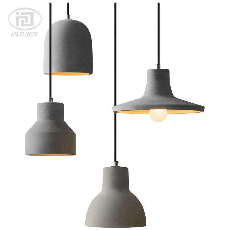Loft Industrial Style Cafe Restaurant Bar single-ended LED Pendent Lamp Retro-Nordic Personality Creative cement  Pendent LightsLoft Industrial Style Cafe Restaurant Bar single-ended LED Pendent Lamp Retro-Nordic Personality Creative cement  Pendent Lights