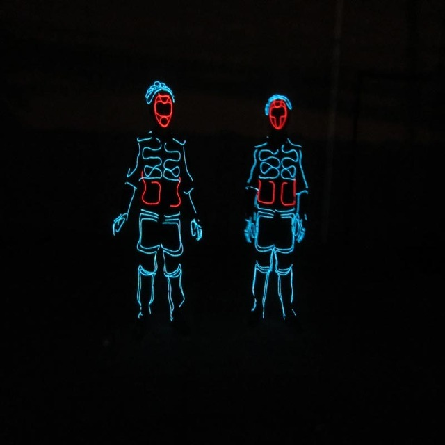 New Arrived LED Cold Light EL Wire Costume Clothes Festive Party ...