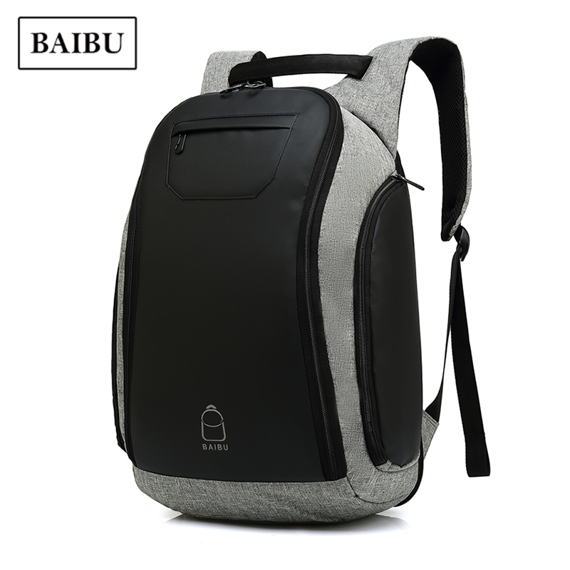 цена BAIBU Backpack Men 2018 New Multi-function Technology Business Bag Casual Waterproof Travel Bag Pack Large Capacity School Bags
