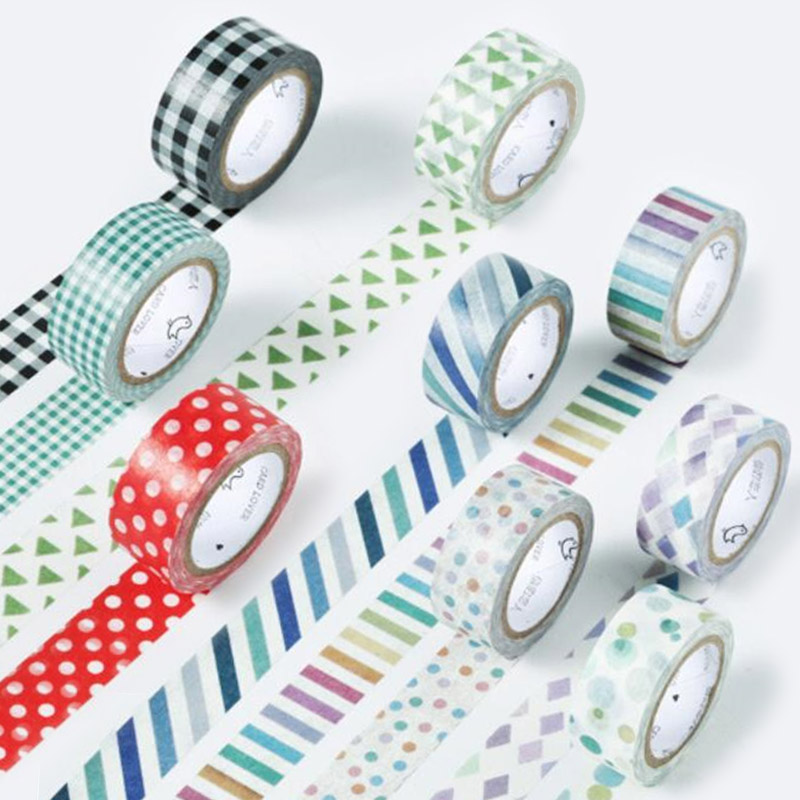 DIY 7M Cute Kawaii Dot Grid Decorative Adhesive Washi Tape For Home Decoration Scrapbooking Diary Free Shipping 3408 diy cute kawaii lace flower adhesive washi tape decorative tape for home decoration photo album free shipping 3483