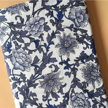 Floral Printed Linen Fabric Cotton Linen Patchwork Fabric Handmade DIY Quilting Material Manual Sewing Crafts Cloth For Textile 100pcs 10x10cm square floral cotton fabric diy sewing doll quilting patchwork textile cloth bags crafts