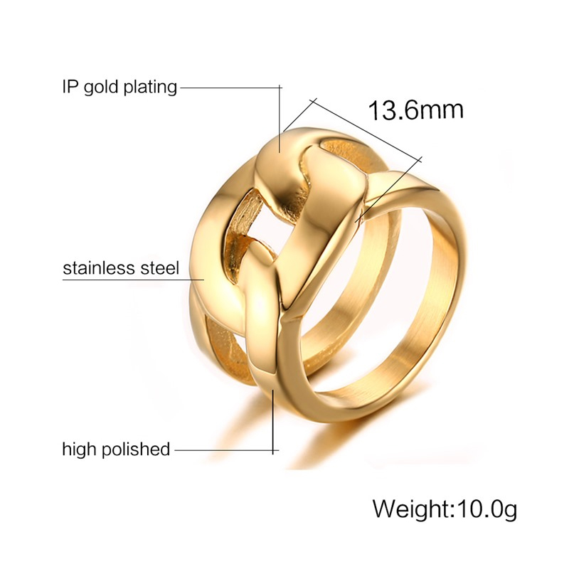 Luxury Large Stainless Steel Men's Ring