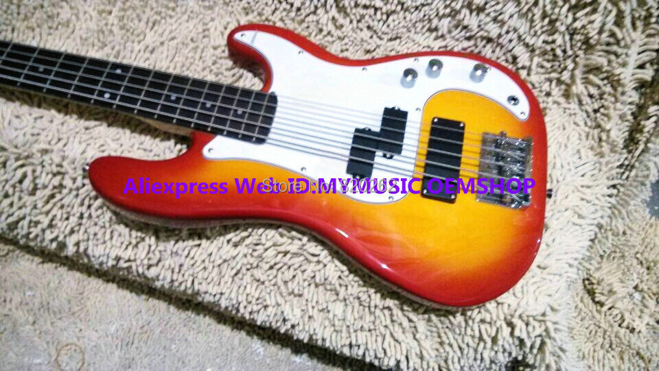 wholesale guitars cherry burst 5 strings electric bass new arrival oem cheap in guitar from. Black Bedroom Furniture Sets. Home Design Ideas