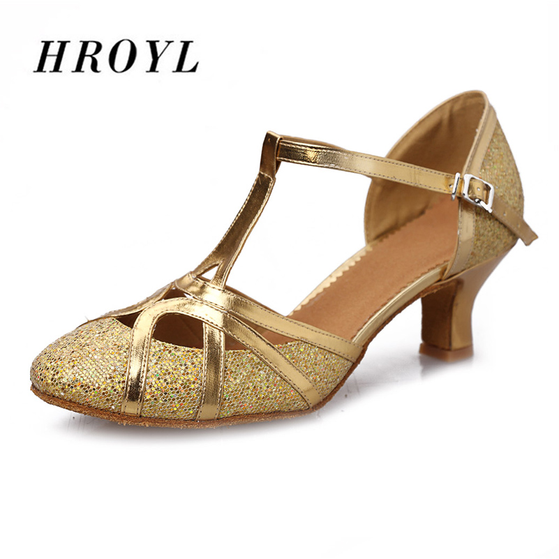 Brand New Arrival Dancing Shoes For Girls Women  Ballroom Latin Shoes Ladies 5CM Gold / Silver