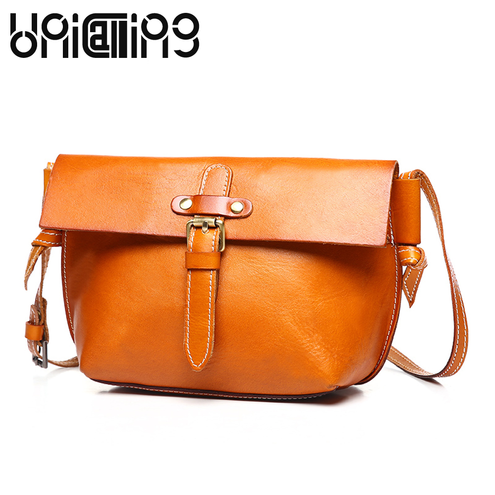 Fashion brand Genuine Leather women bag Top grade Retro shoulder bags Vegetable tanned cow leather small women messenger bags new style messenger bag men leather top grade all match hasp fashion retro cow leather men bag solid color small shoulder bags