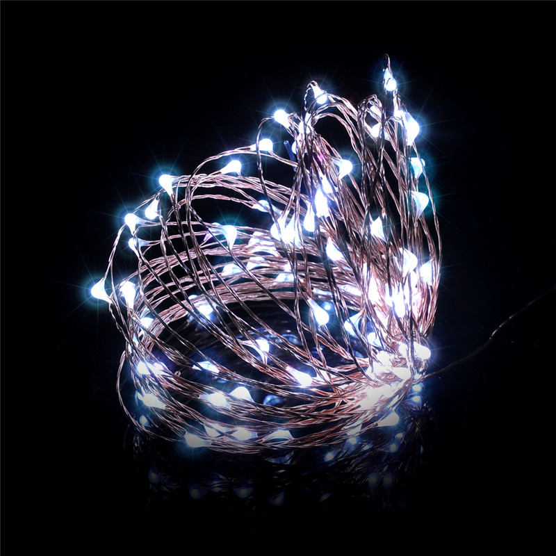 10M 100 LED Fairy String Lights 5V Adapter And Remote Control for Glass Craft Bottle Fai ...