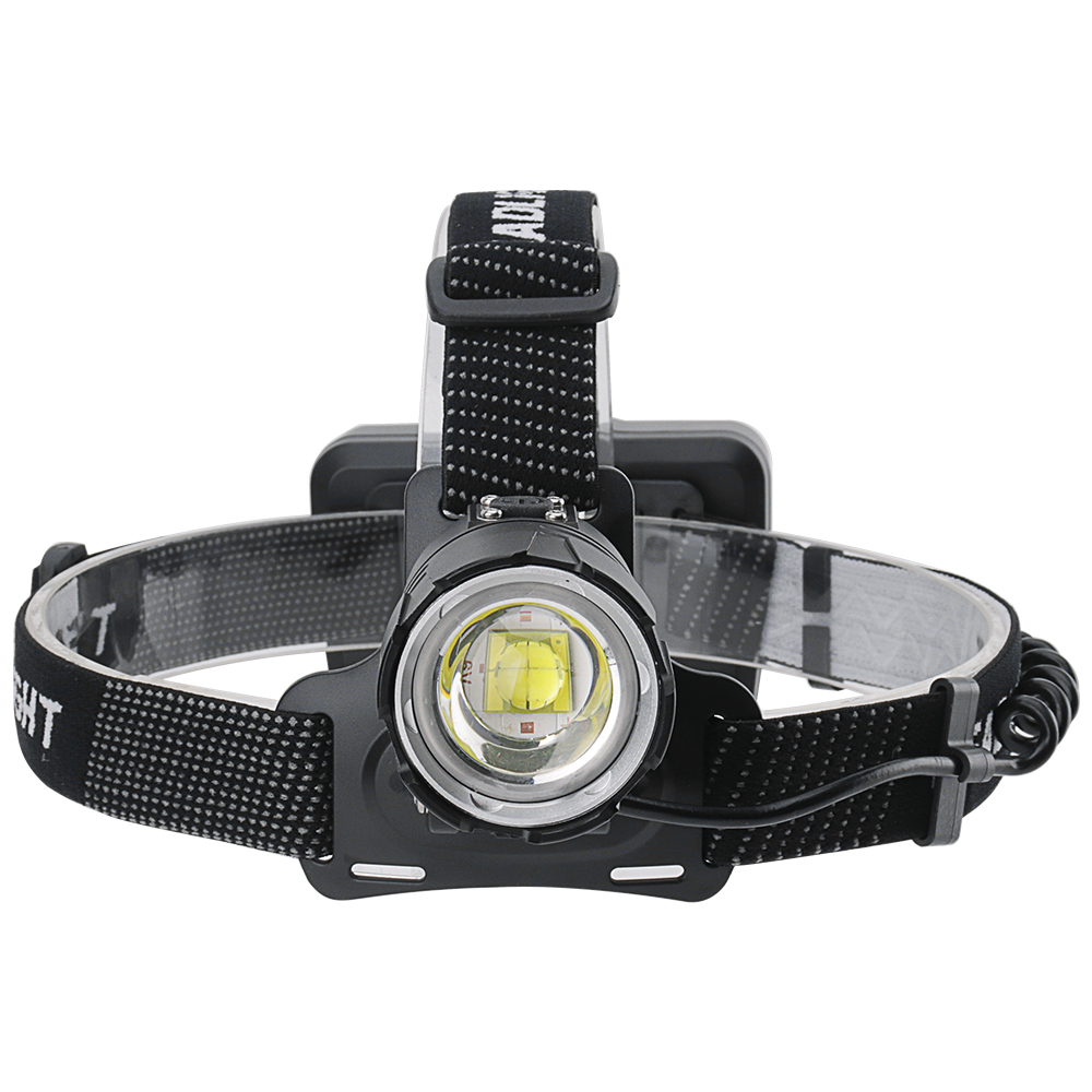 BORUiT XHP70.2 LED Headlamp 3-Mode Zoom Headlight 5000LM High Power Flashlight 18650 Rechargeable Camping Hunting Head Torch