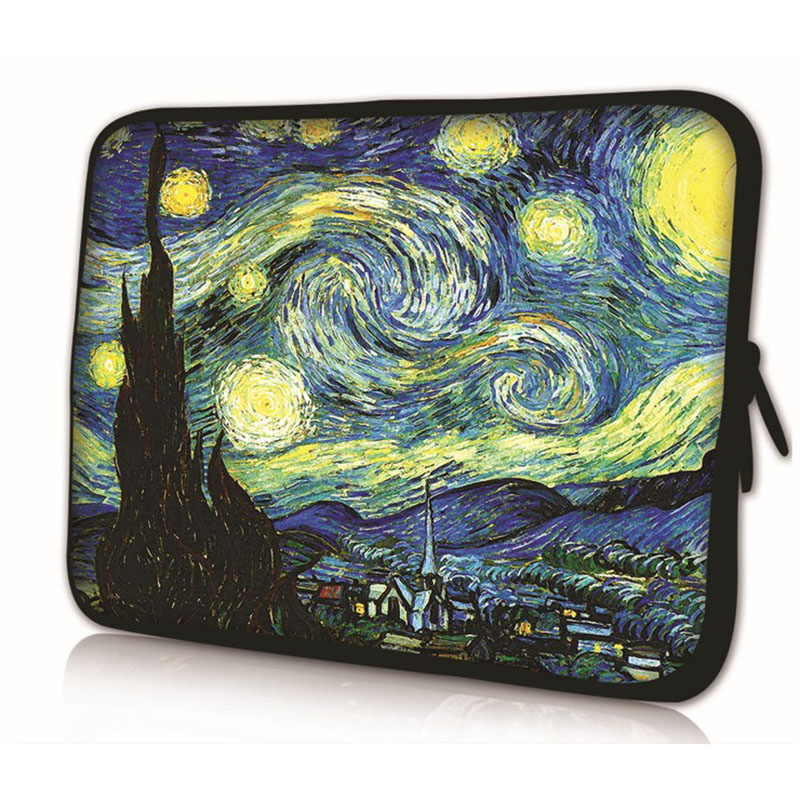 Van Gogh Village Soft Netbook Laptop Sleeve Case Bag Pouch For Apple Macbook Air/Pro Retina 7 10 13.3 15.4 15.6 17.3 17.4 inch #