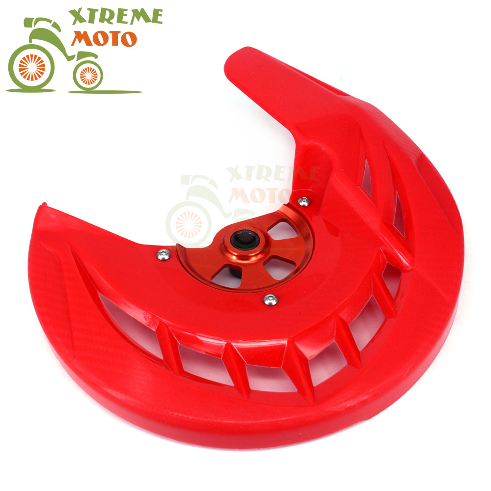 Plastic Front Brake Disc Rotor Guard Protector Cover For Honda CRF250L CRF250M 2013-2015 13 14 15 keoghs motorcycle brake disc brake rotor floating 260mm 82mm diameter cnc for yamaha scooter bws cygnus front disc replace