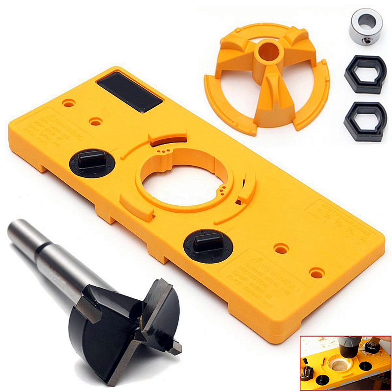 Woodworking Tools Set Hinge Drill Positioning Hole Punch Drilling Guide 35mm Hot