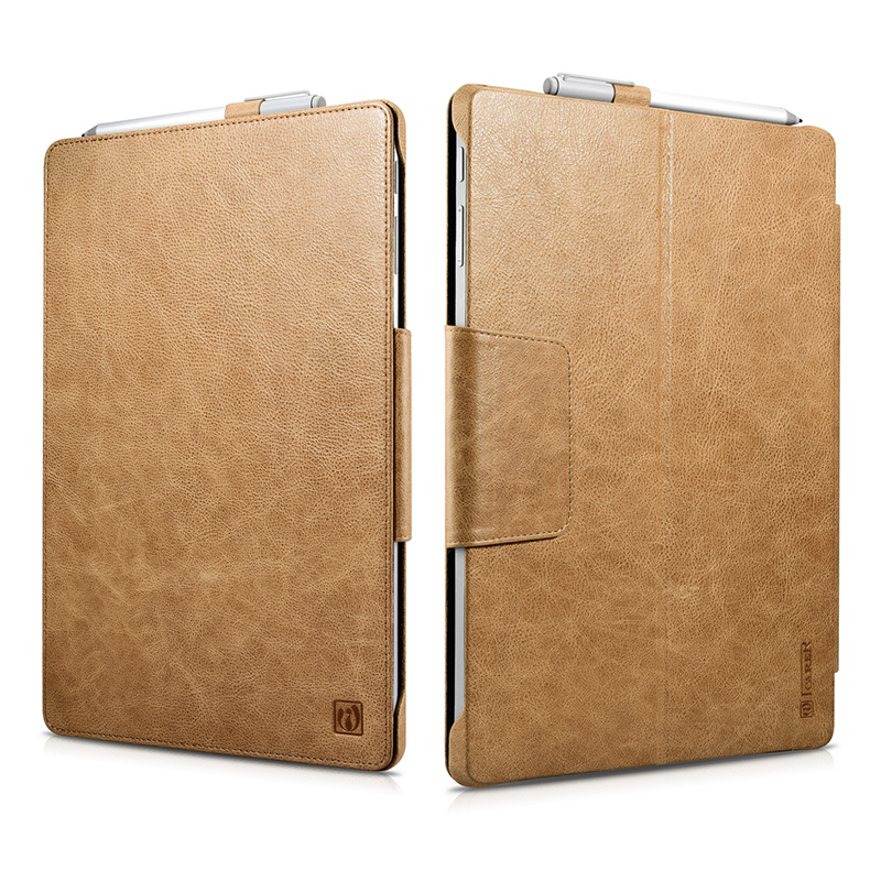 For Microsoft Surface Pro 5 Case Cover Luxury Smart Folio Flip Book Genuine Leather Cases for