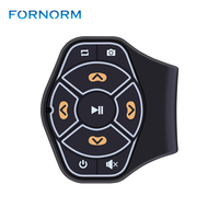 Wireless Bluetooth Universal Steering Wheel Remote Control Media Button Remote Controller Multimedia Music Play For Android