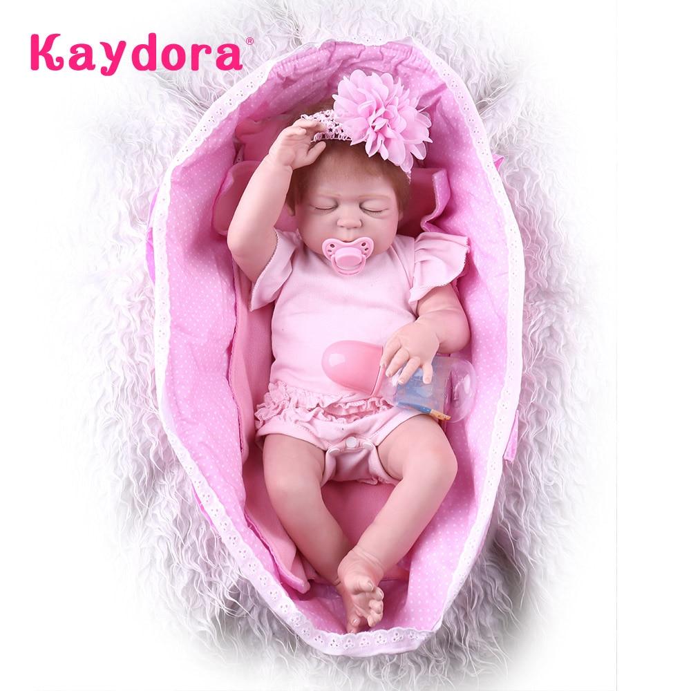 Kaydora 55 CM Alive Baby Dolls Lifelike bebe reborn corpo de silicone reborn Girl Toys reborn baby corpo inteiro de silicone warkings reborn