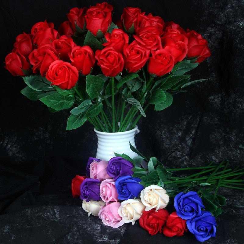 1pce ตกแต่งบ้านประดิษฐ์ดอกไม้ตกแต่งลูกไม้ centros de mesa para boda san valentin decoracion จำลองสบู่