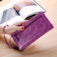 Zipper Leather Women Wallet Bag Purse Case For IPhone 8 7 6 6S 8 Plus 5