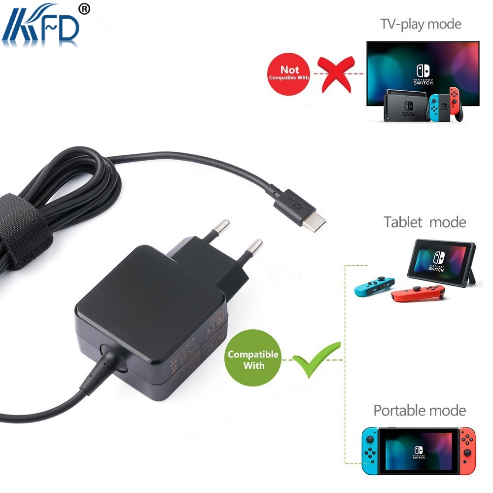 KFD 5.25V AC Adapter for Nintendo Switch, Google Pixel/Pixel XL, Lumia 950xl/950, Nexus 6p and Other Type-C 5V Supported Devices