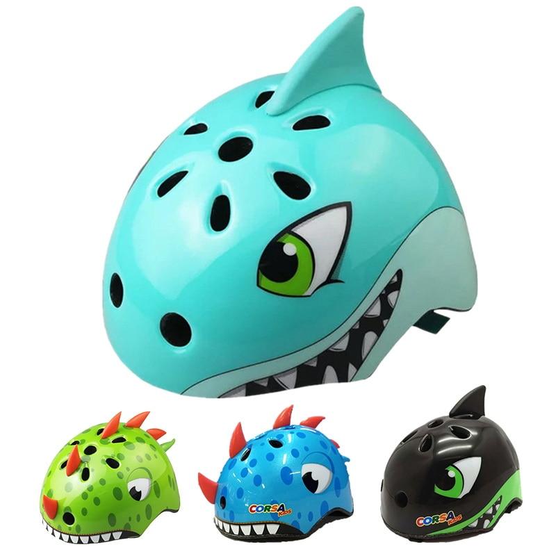 Size M 54-58cm VORCOOL Childrens Bicycle Helmet 3D Cartoon Bear Bike