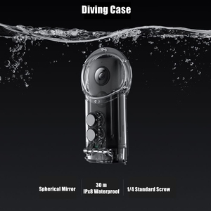 Image 3 - Original 30 m Dive Fall Shell Für Insta360 One X Schnorcheln Surfen Wasserdichte Zubehör