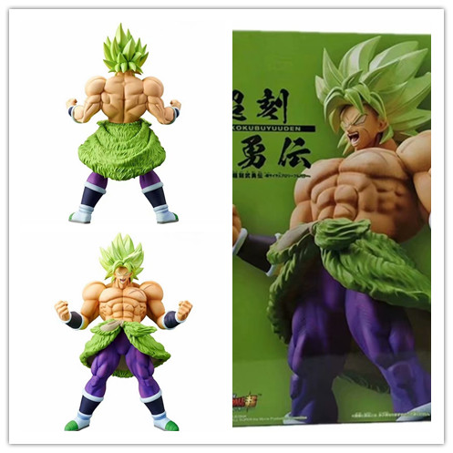 Japanese Animation Seven Dragon Ball Super Saiya Choukokubuyuuden BROLY  Statue Collection Toy and Doll Gifts(China)