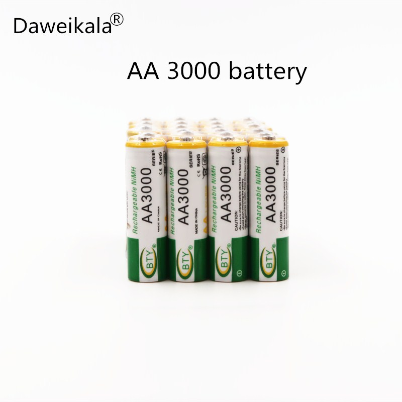 все цены на 4 pcs lot 1.2V 3000mAh NI MH AA Pre-Charged Rechargeable Batteries Ni-MH Rechargeable aa Battery For Toys Camera Microphone