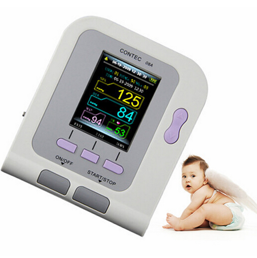 Neonate Infant Digital Blood Pressure Monitor CONTEC08A SPO2 PR PC Software USA  Neonate Infant clark competition in blood services pr only conf chicago june 1986