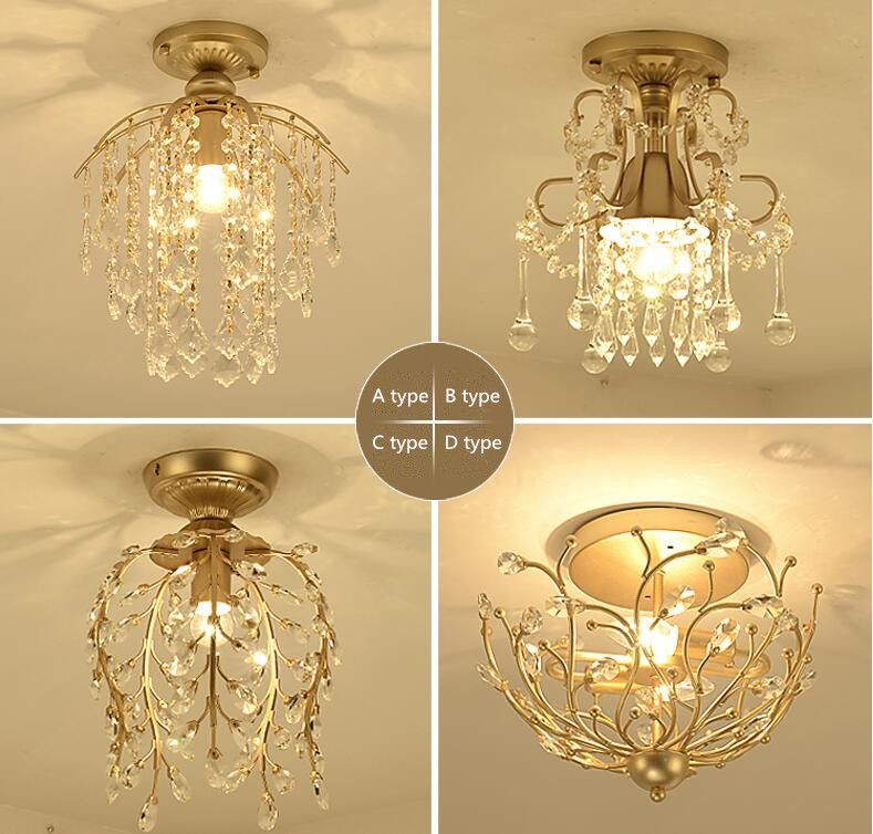 New crystal chandelier corridor aisle living room lights. Material: iron / crystal