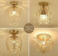 New crystal chandelier corridor aisle living room lights. Material: iron / crystal