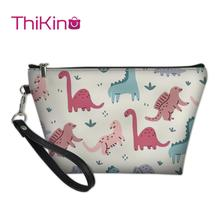 Thikin Dinosaur Makeup Bags for Punk Women Girls Cosmetic Bag Travel Handbag Case Pouch Rock Storage Purse