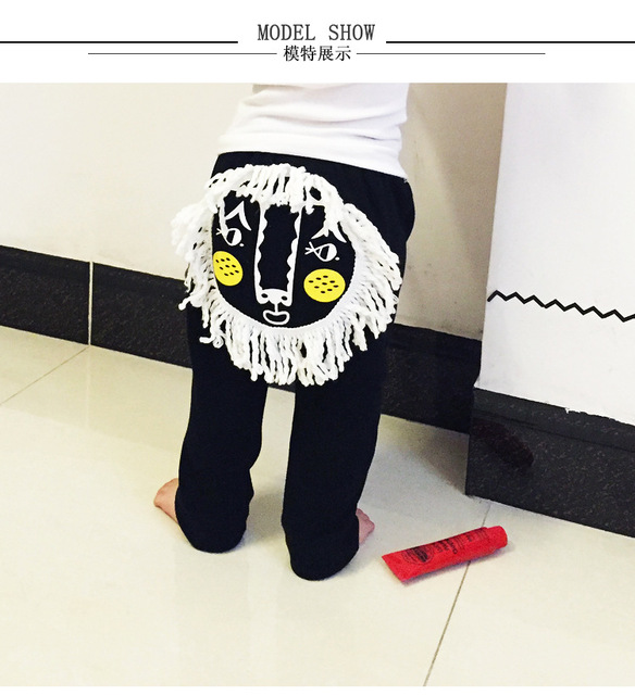 2017 SPRING BABY BOY CLOTHES BABY GIRL CLOTHES KIDS LION CARTOON PANTS TROUSERS KIDS CLOTHING BABY CLOTHING VETEMENT ENFANT BEBE
