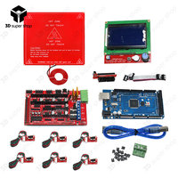 Mega 2560 R3 + Heated Bed MK2B + RAMPS 1.4 Controller + LCD 12864 + 6 Mechanical Limit Switch Endstop 3D Printer Kit