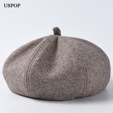 USPOP 2019 New women berets autumn hat for twill-weave cotton-polyester casual painter