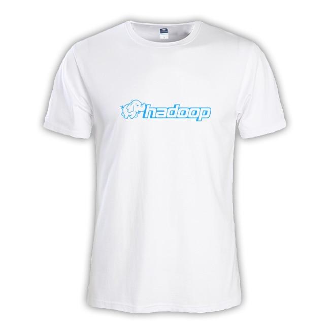 2018 летние модные мужские футболки мастер NERD freak хакер pc gamer программиста систем топы для мальчиков футболки Мужчины Hadoop Слон одежда
