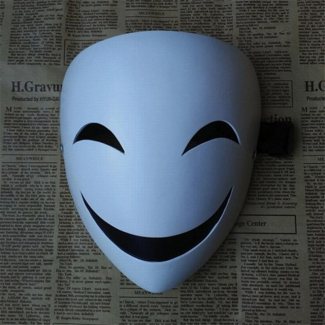 Аниме маска Черная пуля 3