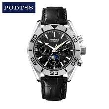 Современный Классический многофункциональный Спорт Автоматические Механические Часы мужская Мода Наручные Часы Сапфировое стекло PT6282G