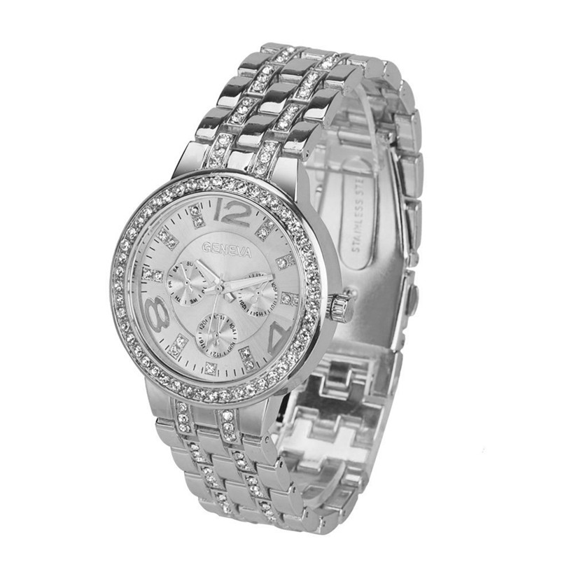 Women Watches Mens Watch erkek saat montre homme Luxury High Quality Quartz Rhinestone Crystal Wrist Watch Dropshipping Noble 4*