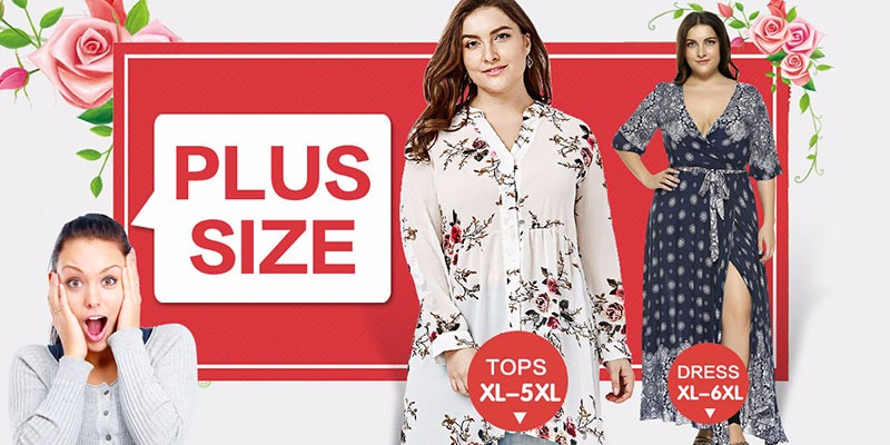 528b425ad9a Plus Size 5XL Floral Print High Low Hem Blouse Shirt Women Autumn ...