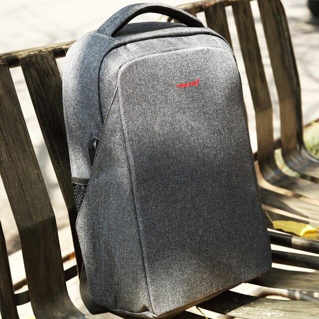 2018 Tigernu Анти-вор 15.6 дюймов Рюкзак Для Ноутбука USB зарядки молодежный рюкзак для женщин мужчины bagpack Рюкзак школы для подростки