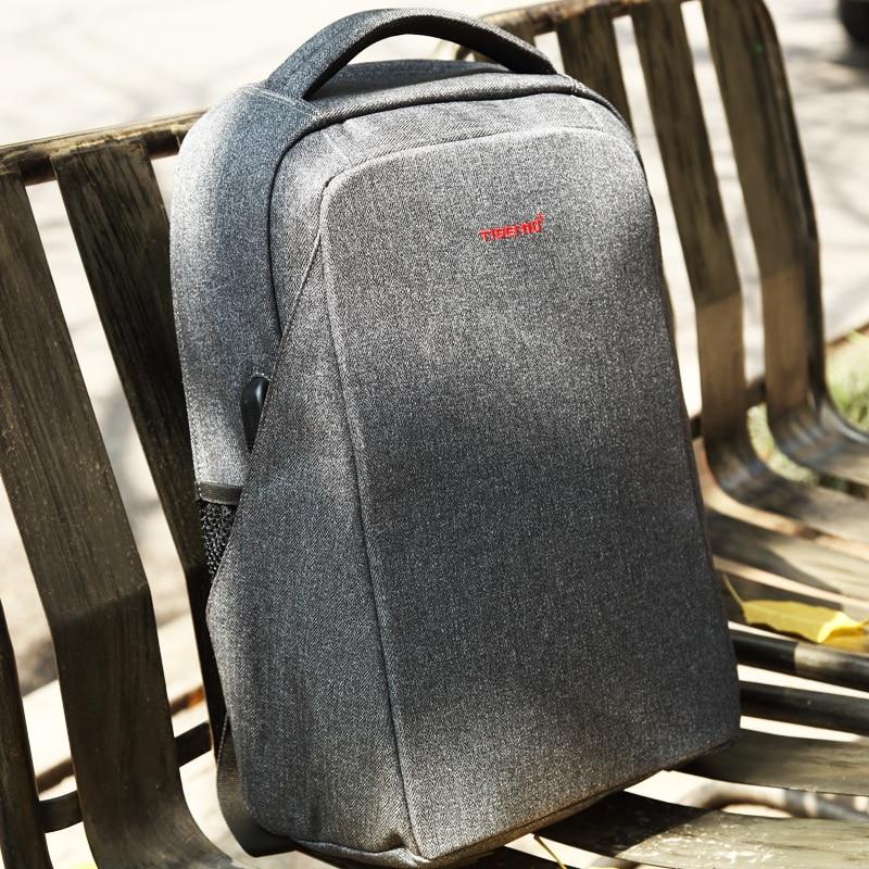 6e17a9f482a8 Homens anti roubo Tigernu mochila laptop USB computador bagpack mochilas  para as mulheres do sexo masculino saco de escola mochila para adolescentes  ...