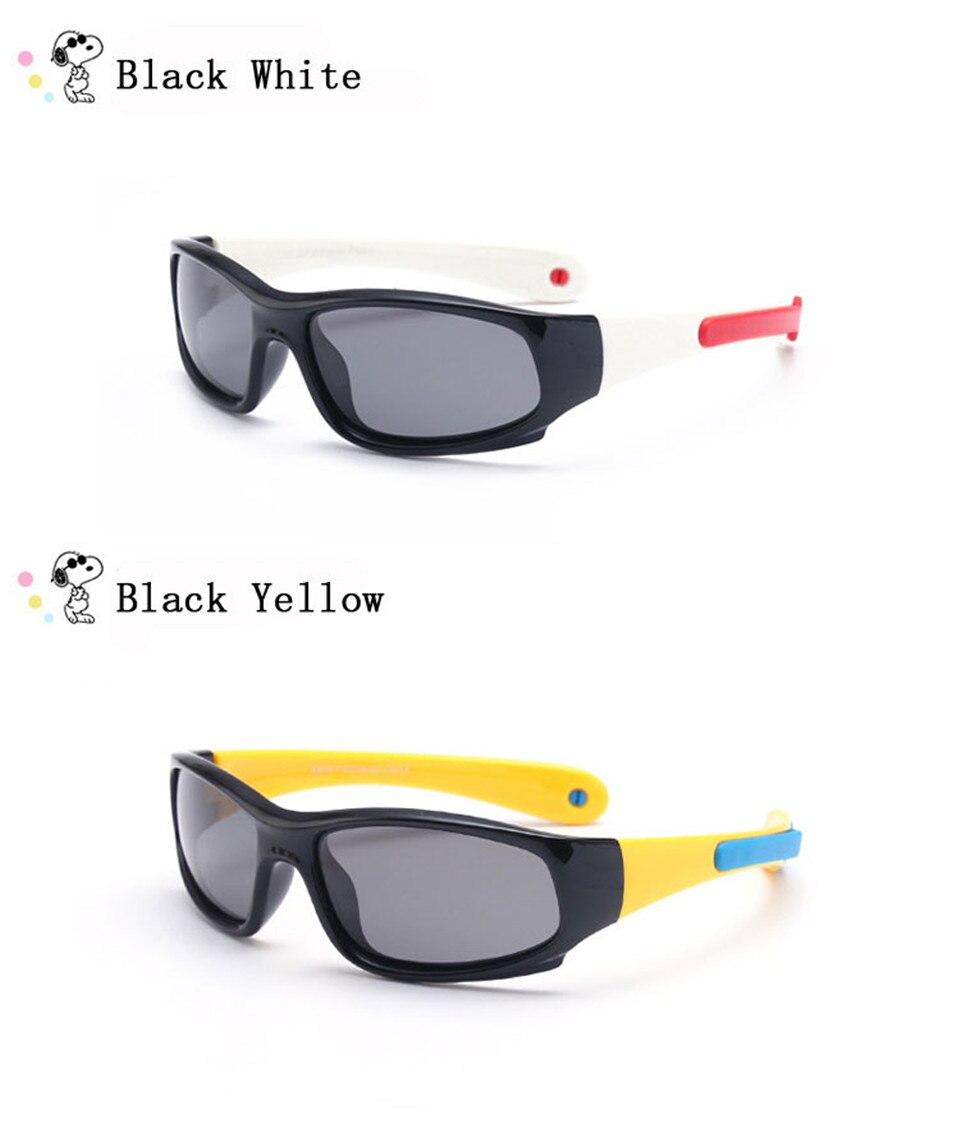 No easily broken Kids TR90 Polarized Sunglasses Children Safety Brand Glasses Flexible Rubber Oculos Infantil (14)