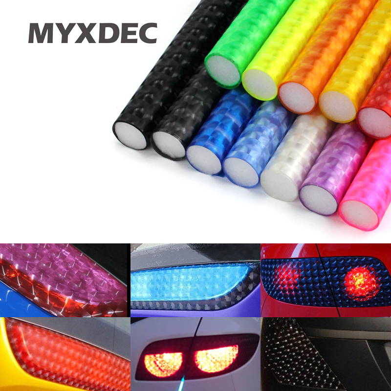 30cm*1m 12 colors styling Auto 3D Cats Eye Car Sticker Smoke Fog Light HeadLight Taillig ...