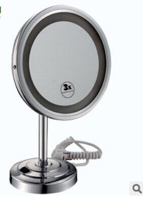 Badkamer desktop 8 inch Messing 3X Keer Vergrotende Spiegel LED ...