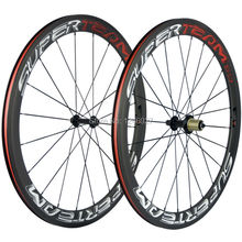 Ship From US 50mm Clincher Carbon Wheels Superteam Carbon Road Wheelset Basalt Brake Powerway R13 Bicycle Wheel Clincher(China)