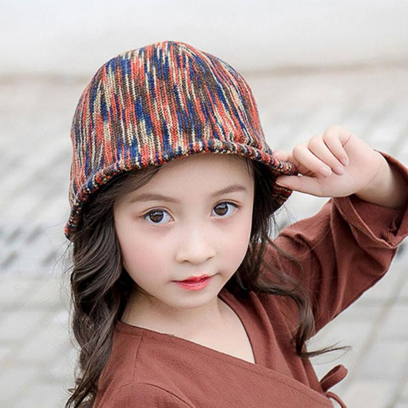 Cute Baby Bucket Hat Colorful Kids Basin Hats Autumn Windproof Children Fisherman Cap Toddler Bucket Cap Infant Stripe Headwear Hats & Caps