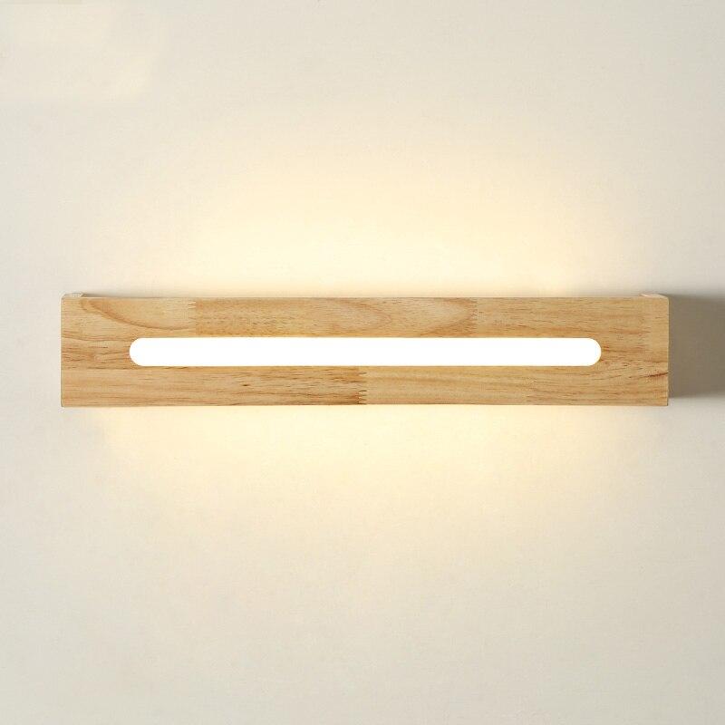 Японский СВЕТОДИОДНЫЙ дерева, настенный светильник лестницы для ванной спальня ночники 110-240 В